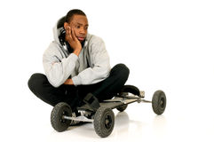 African American skateboarder Royalty Free Stock Images