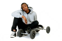 African American skateboarder Royalty Free Stock Photos