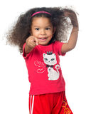 African American Small Girl Pointing To The Camera Royalty Free Stock Images