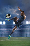 African American Soccer Player Royalty Free Stock Photography
