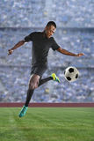 African American Soccer Player Stock Image