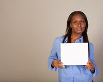 African American Spokeswoman with sign Stock Image