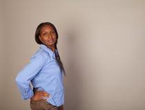 African American Spokeswoman Stock Photo