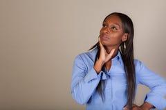 African American Spokeswoman Stock Image