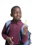African American Student. An african american student ready for school. Education, learning Stock Photo