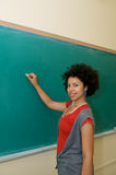 African american student in classroom Royalty Free Stock Image