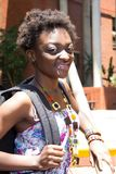 African American Student at the College Royalty Free Stock Image