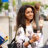 African-american student girl Stock Photos