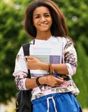 African-american student girl Royalty Free Stock Photos