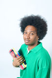 African American student holding textbook Royalty Free Stock Photography