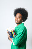 African American student holding textbook Stock Image