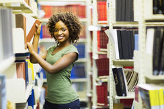 African american student library Royalty Free Stock Image