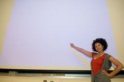 African American student speech podium Royalty Free Stock Photography