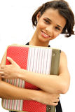 African american student teenage girl royalty free stock photos