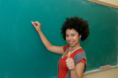 African american student thumbs up Stock Photos