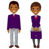 African American Students Uniform Stock Photography