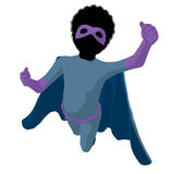 African American Super Hero Boyl Illustration Royalty Free Stock Photography