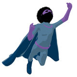 African American Super Hero Boyl Illustration Stock Image