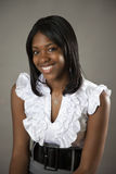 African American teen. Portrait of a smiling pretty african american teen Stock Photos