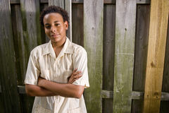 African American teenage boy Royalty Free Stock Image