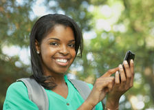 African American teenager Stock Photos