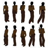 African American Teenager Illustration Silhouette Stock Photography