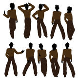African American Teenager Illustration Silhouette Royalty Free Stock Photos