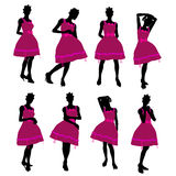 African American Teenager Illustration Silhouette Stock Images