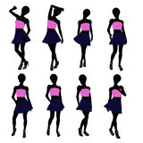 African American Teenager Illustration Silhouette Stock Photos