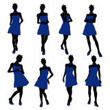 African American Teenager Illustration Silhouette Stock Image