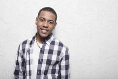 African American teenager smiling stock images