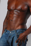 African american torso Royalty Free Stock Photography