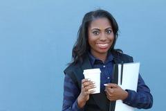 African american university student closeup Royalty Free Stock Image