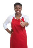 African american waitress showing thumb up Stock Images