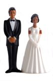 African American wedding dolls Stock Photo