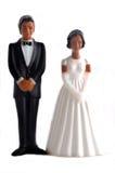 African American wedding dolls. African American wedding figurines isolated Stock Photo