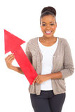 African american woman arrow Royalty Free Stock Photo