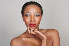African American Woman With Beauty Makeup Stock Photos