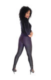African American woman in black tights. Royalty Free Stock Photography