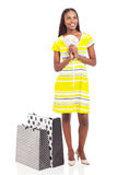 African american woman cash shopping Royalty Free Stock Images
