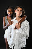 African American Woman and Caucasian Man Stock Photography