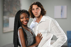 African American Woman and Caucasian Man Stock Image