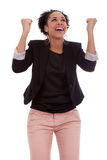 African american woman celebrating success Stock Photo