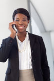 African-American Woman on cell phone Royalty Free Stock Images