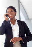African-American Woman on cell phone Stock Image