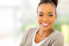 African american woman close up Stock Photos