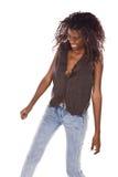 African American woman dancing Stock Images