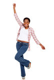 African american woman dancing Royalty Free Stock Images