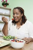 African American Woman On A Diet Royalty Free Stock Photos