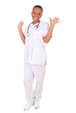 African american woman doctor a over white background Stock Photo